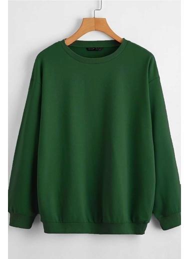 Madmext Mad Girls  Basic Sweatshirt Mg806 Yeşil